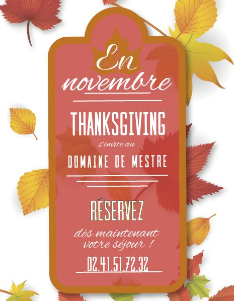 Thanksgiving Domaine de Mestré